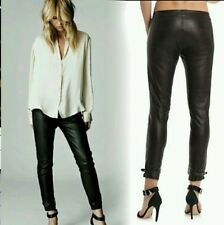 NWT $898 New Elin Kling Guess by Marciano - Linn black100% Leather Pant size 2
