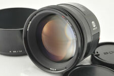 *Excellent* Minolta AF 85mm f/1.4 Lens w/ Hood from Japan #3836
