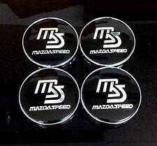Wheel Center Caps 60mm Badge Set 4pcs Mazdaspeed
