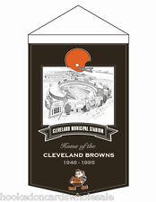 Cleveland Browns Wool Stadium Banner - Cleveland Municipal 15 x 20