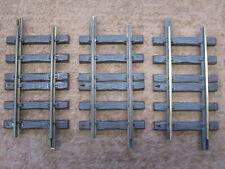 "Three LGB Lehmann 10150 G Scale Straight Track, 150 mm / 5-7/8"" Used (3 Pieces)"