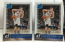 (2) Kristaps Porzingis 2015-16 Donruss Rated RC Lot #239 - NEW YORK NY KNICKS