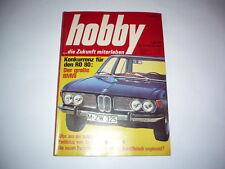 Rivista HOBBY 16.10.1968 Insegne Pubblicità PORSCHE 912 911 BMW 2500 AUDI 60l
