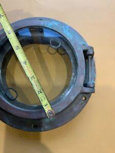 Vintage 9 inch Diameter Brass Porthole