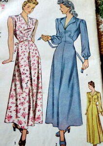 LOVELY VTG 1940s NIGHTGOWN Sewing Pattern BUST 38 FF