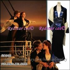 Replica Titanic Rose Flying Dress Costume Victorian - Custom Tailed in Any size
