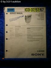 Sony Service Manual ICD 37 /57/67 IC Recorder (#5449)