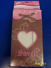 Sweet Birthday Sixteen 16th Pink Brown Girls Cute Party Favor Bags Treat Sacks