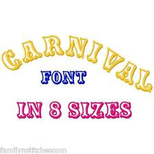 Carnival Font Machine Embroidery Designs CD 82 ABC123 in 6 sizes plus Appliques