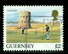 GUERNSEY 302 SG315 Used 1985 £2 Golf L'Ancresse Defin Cat$6