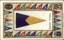 New York City? Eagans School Felt Pennant Greeting c1910 Postcard