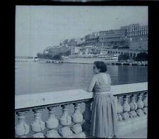 Vue sur la mer - Bateau -  Ancien négatif Photo
