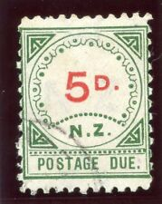 New Zealand 1899 QV Postage Due 5d carmine & green very fine used. SG D6. Sc J6.