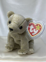 Rare Retired Ty Beanie Baby Almond The Bear 1999 Mint P.E. Pellets With Errors
