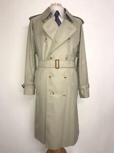BURBERRY - Mens Vintage BEIGE COTTON TRENCHCOAT - UK 46 Reg -WORN ONCE RAIN COAT