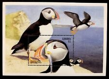 LIBERIA ATLANTIC PUFFIN STAMPS SS 1999 MNH SEA BIRD MARINE LIFE NATURE WILDLIFE