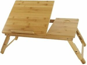 Adjustable Bamboo Laptop Stand Multipurpose Foldable Bed Tray
