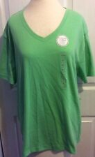 Kim Rogers xl green v neck new relaxed fit soft cotton easy wear