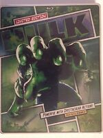 The Hulk (Blu-ray/DVD, 2013, 2-Disc Set, Limited Edition Steelbook (NEW)