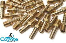 """(25 Pack) 5/16"""" Hose Barb x 1/4"""" NPT Male Pipe Thread Brass Fitting Coyote Gear"""