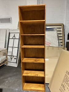 Large solid timber bookcase(appears to be cedar)very strong, 2120h, Vic. 3079