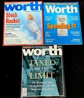 Worth Magazine 1994, 1995, 1998 Money And Coin, Financial Intelligence, IRA, Tax