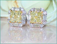 RARITÄT Gelbe Diamanten Ohrstecker mit Brillanten 2,81 ct tw-vs/vvs WG750 15100€
