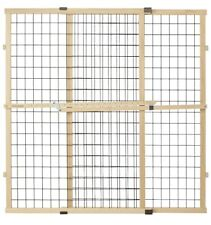 North States MyPet 37' Tall and 48' Wide Wire Mesh Gate: Simply Expand and Lock