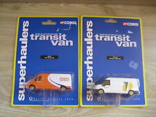 CORGI SUPERHAULERS  1/64th     2 Ford Transit Vans   Tarmac & TNT