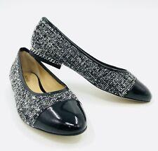 Michael Kors Sabrina Ballet Tweed Black White Ballet Flats Size 6