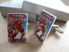 Iron Man Comic Book Cover Cufflinks - Wedding Marvel Comics X-men Cufflinks