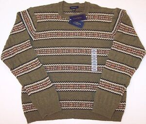 NWT Club Room Men's Sage 100% Lambswool Sweater, Large, $59.50