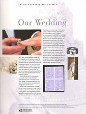 #758 39c Our Wedding Dove Stamp #3998 USPS Commemorative Stamp Panel