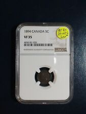 1894 Canada Five Cents NGC VF35 SILVER 5C Coin PRICED TO SELL QUICKLY!