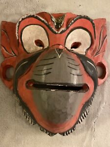 Wooden Mask Red