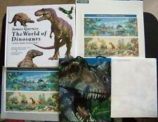 Dinosaur T Rex Tyrannosaurus Usps Rare Set : Stamps World Book Gift Bag Note Pad