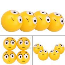 4Pcs Yellow Smile Face Expression Car Tire Tyre Dust Stem Air Valve Caps for Car