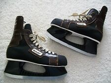 VINTAGE BAUER 99 ICE HOCKEY SKATES GREAT SHAPE BLACK TUUKS SIZE 9 ? PROLINER 11'