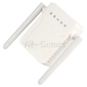 Wireless WIFI Repeater Router Dual Antenna AC110-240V 300Mbps 2.4Ghz NEW