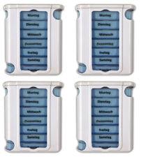 4x Pillendose mit 7 Boxen inkl. Pillenteiler | Medikamentenbox Tablettenbox