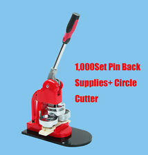 """Canada Seller 1""""(25mm) Round Badge Maker Machine for Making DIY Pin Buttons"""