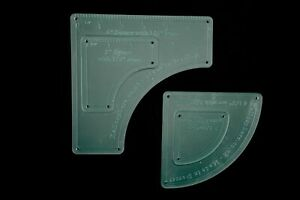 """Acrylic drunkards path template with 1/4"""" seam allowance - from 3"""""""