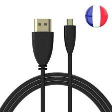Cordon Câble Transfert HDMI Mâle vers Micro HDMI Mâle Full HD 1080P 1,50m TV PC