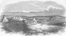 UKRAINE. Sevastopol-Capt Wodehouses guns, antique print, 1854