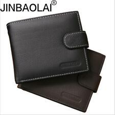 Fashion Mens Wallet Genuine Full Grain Leather Bifold Business Coin Zipper Purse