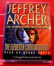 Jeffrey Archer The Eleventh Commandment 2-Tape Audio Book Kerry Shale Thriller