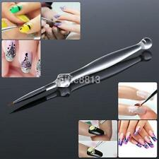1Pc Tiny Clear Acrylic Flower Design Painting Drawing Nail Art Pen Brush Tool