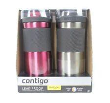 Contigo Snapseal leak-proof Stainless Steel Travel Mugs Set - 16 OZ (2 PK)