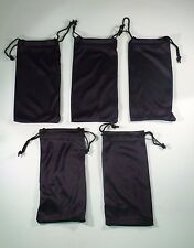 5ct Black MicroFiber Sunglass Eyeglasses Carrying Pouch Case Bag Storage Sleeve