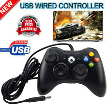 Black USB Wired Controller Game Pad Joystick For Microsoft Xbox 360 PC Windows